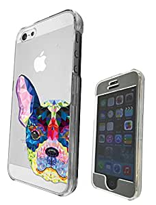 c0043 - Aztec Dog Half Face Cool Fun Design iphone 5 5S Fashion Trend CASE Full COVER Front And Back Full Protective Case Cover