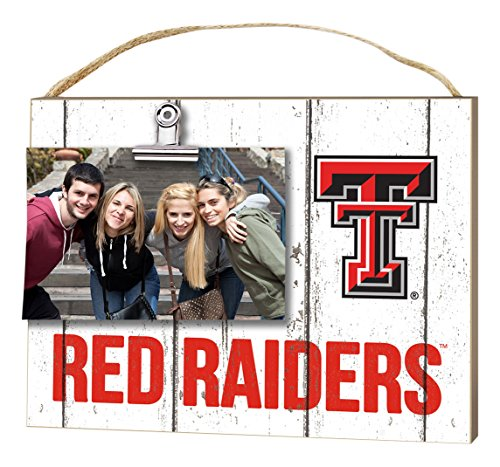 """KH Sports Fan 10""""x8"""" Texas Tech Red Raiders Clip It Weathered Logo Collage Photo Frame"""