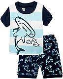 Boys Pajamas Motorcycle Kids Clothes Cotton Short Sets Size 2T-7
