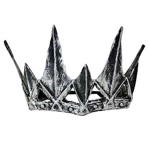 Queen Ravenna Crown (Jacobson Hat Co. Queen Ravenna Crown Costume Accessory, Silver, One)