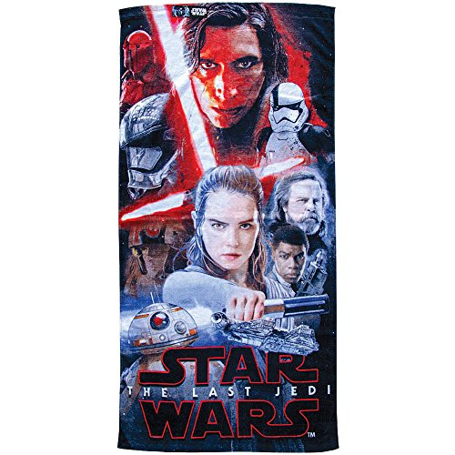 Disney Star Wars Conflict Last Jedi Beach Towel - Cotton 28 X 58 Pool Bath + by Jerry Leigh
