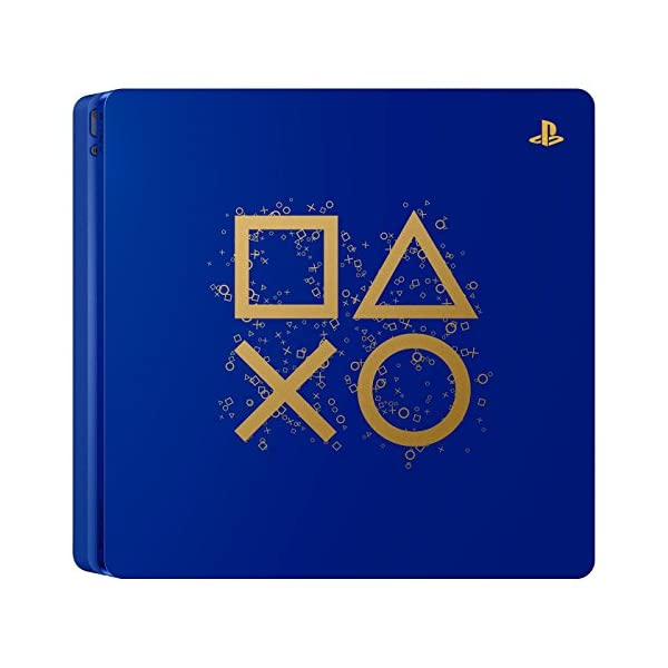 Playstation 4 Slim 2TB SSHD Limited Edition Days of Play Blue Console with Controller Bundle Enhanced with Fast Solid State Hybrid Drive 2