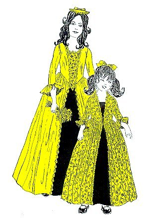 1776 Girl's Colonial Dress Pattern (Colonial Costume Williamsburg)