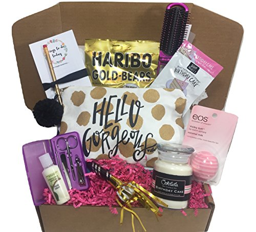 Complete Birthday Gift Basket Box for Her-Women, Mom, Aunt, Sister or Friend, Unique! (Gifts For Her Birthday)