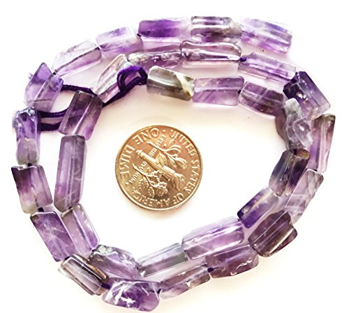 4x13mm Round Bead Tube (3 Pack Amethyst (Dyed) Gemstone Beads for Jewelry Making 8X4mm-13X6mm Hand-Cut Square Tube)