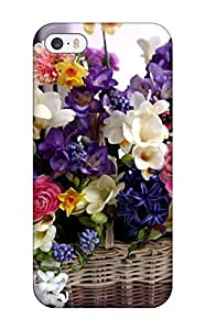 Hot Design Premium NYCzXGb2307yFxUg Tpu Case Cover Iphone 5/5s Protection Case(floral Basket)