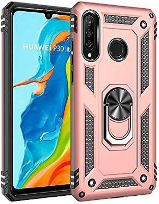 BestST Funda Huawei P30 Lite/Nova 4e con Anillo Soporte, con HD Protectores de Pantalla, Rugged TPU y PC Cubierta de Doble Capa Hybrid Carcasa y 360 ...