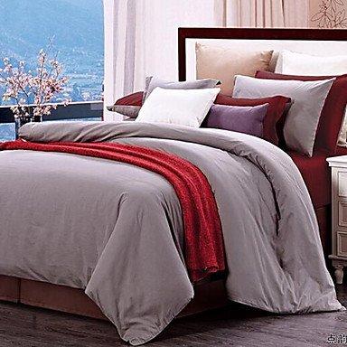 WYFC Einheitliche Farbe 4 Stück 1 STK. Bettdeckenbezug 2 STK. Kissenbezüge 1 STK. Betttuch