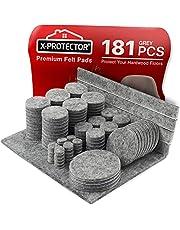 Meubilair Pads Vloerbeschermers X-PROTECTOR 181 PCS - Vilten Pads voor Stoelpoten - Premium Meubilair Vilten Pads voor Meubelpoten - Enorme hoeveelheid Grijs Vloerbescherming Pads - Bescherm uw houten vloeren!