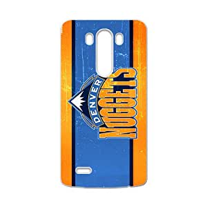 Denver Nuggets NBA White Phone Case for LG G3 Case