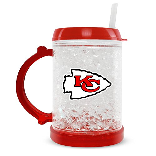 Duck house kansas city chiefs crystal freezer mug