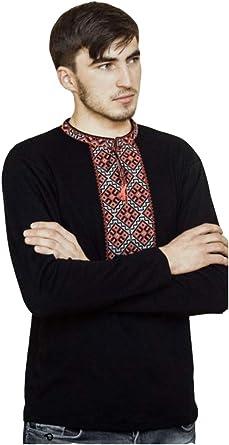 Camiseta de manga completa bordada ucraniana, Sorochka para hombres, camiseta nueva, Vyshyvanka