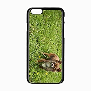 iPhone 6 Black Hardshell Case 4.7inch dog grass walk look Desin Images Protector Back Cover