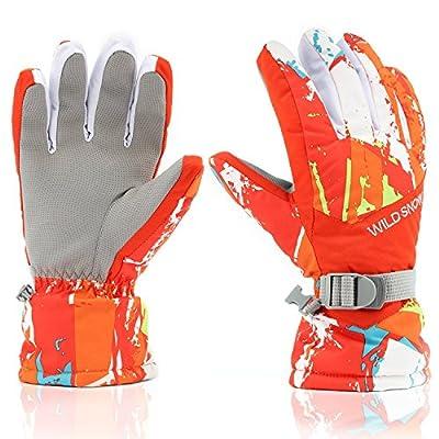 Ski Gloves, Winter Warmest Waterproof Snow Snowboard Gloves for Men Women Boys Girls Kids