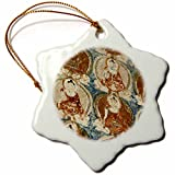 3dRose orn_132506_1 India, Ladakh, Alchi, Buddhist Wall Paintings-As10 Aas0009-Anthony Asael-Snowflake Ornament, 3-Inch, Porcelain