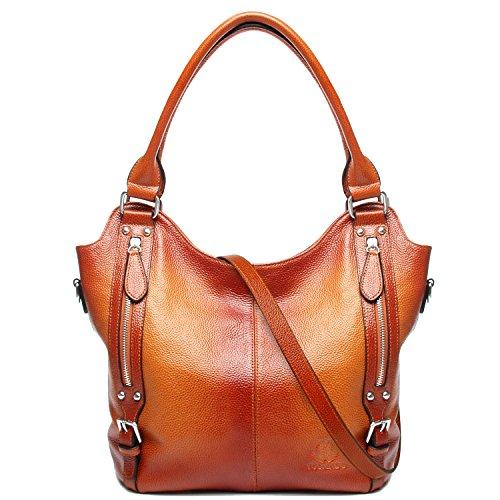Leather Tote Bag-Medium Shoulder Bag-Cross Body Bag-Purses And Handbags (Brown)