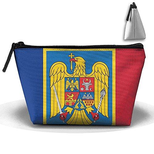 Ruin Romanian Flag Portable Pouch Waterproof Trapezoidal Storage Bag
