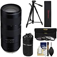 Tamron 70-210mm f/4.0 Di VC USD Zoom Lens with 3 Filters + Pouch + Tripod Kit for Nikon Digital SLR Cameras
