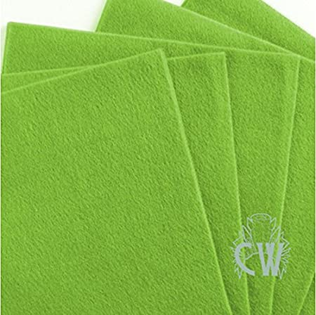 Packs of 6 Sheets Craft Felt 9'x12' Approx 2mm Thick. Curtisward Offer Pack. (White)