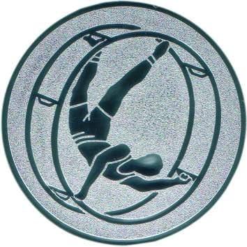 50 mm//silber Pokal Emblem Radwandern