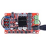 Dual Channel Bluetooth Amplifier Board,Quimat TDA7492 2 x 50 Watt 2 Channel Wireless Audio Receiver Digital Hifi Module with Protective Case, Heat sinks and LED Display