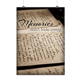 Old Memories Slogan Wisdom Words Matte/Glossy Poster A4 (9x12 inches) | Wellcoda