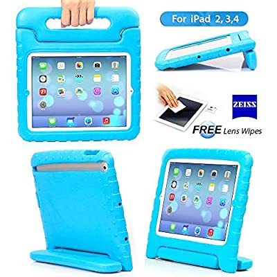 TRAVELLOR Ipad 2 3 4 Shockproof Case Light Weight Kids Case Super Protection Cover Handle Stand Case for Kids Children for Apple Ipad 2 Ipad 3 Ipad 4 Ipad Air(5 Th Generation) (Blue, iPad 2/3/4)