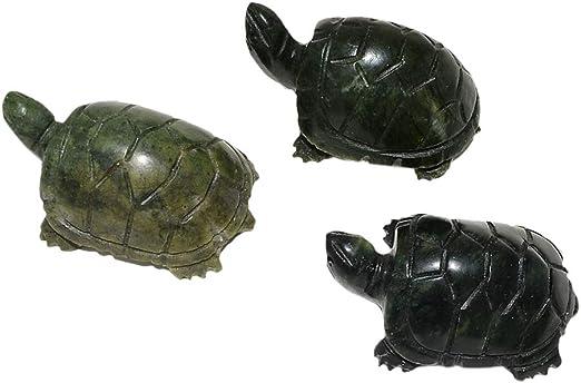 "5/"" Natural Chinese Green Jade Carving Fengshui Dragon turtle tortoise Longevity"