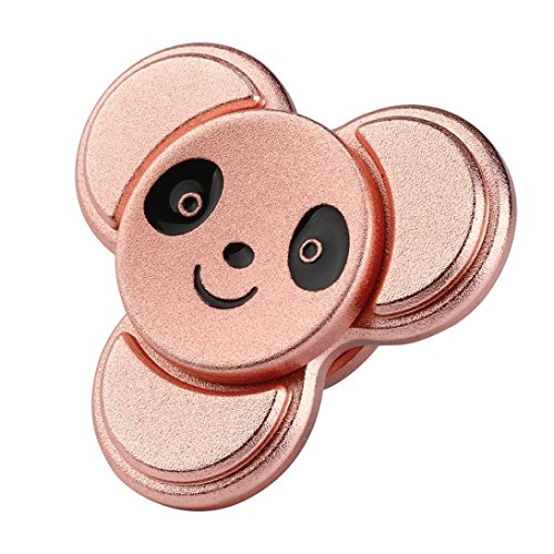 VESNIBA The Anti-Anxiety 360 Spinner Helps Focusing Fidget Toy 3D Figit Kids Adults (Rose Gold) (Glow In The Dark Toy Parachute)