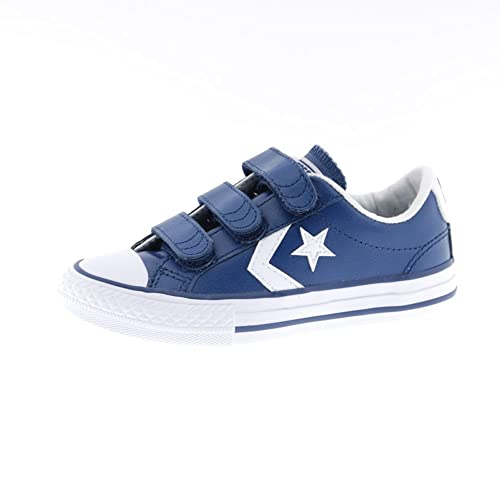 84abb634406 Kids Boys Girls Children Converse All Star Player Chuck Taylors Velcro  Trainers Shoes  Amazon.co.uk  Shoes   Bags