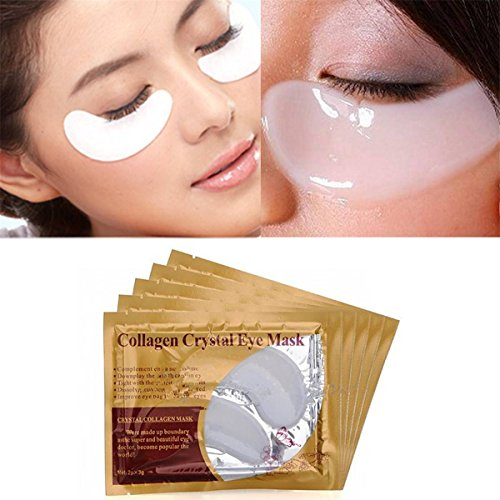 LuckyFine Collagen Beauty Eyelid Patch Moisture Anti-Aging Anti Black Wrinkle Circles Eye Mask Skin Care