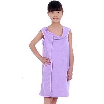 Moolecole De Las Mujeres Bañera Toallas y Chicas Bañera Envolver Toallas Usable Ducha Bañera Envolver Chicas Luz Púrpura: Amazon.es: Hogar