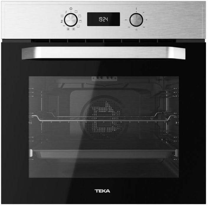 Teka HCB 6535 Horno Multifunción de 60 cm con HydrocleanECO | Sistema de Limpieza Hydroclean automático | 59.5 x 59.5 x 53.7+22 | Eficiencia Energética A+, Acero Inoxidable, Normal
