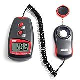 Dr.Meter Digital Light Meter/Lux Meter LX1010B with LCD Display 50,000 Lux Luxmeter