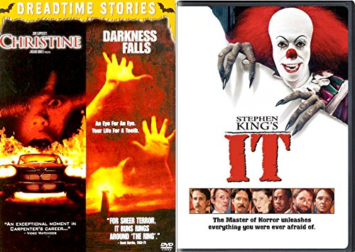 Stephen King Dreadtime Stories Christine + Darkness Falls & IT DVD Horror Movie Collection