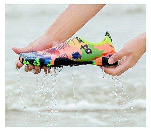 Vimedea Mujeres Niños Hombres Comodidad Snorkel Buceo Deportes Acuáticos Descalzo Calcetines Aqua Yoga De Secado Rápido Zapatillas Deportivas Slip-on Athletic Multiple-a