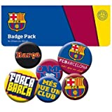 Barcelona F.C. Fc Barcelona Official Product Badge Pack Of Six New Sealed Various Sizes