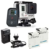 GoPro HERO3+ Black Edition Camera HD Camcorder With 2 Replacement Lihtium Ion Batteries + Charger With Car Travel Charger