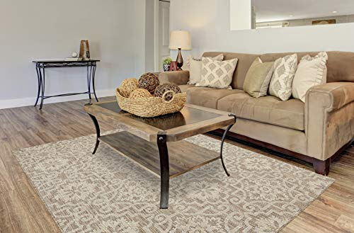 PRIYATE Florida Collection - All Weather Indoor/Outdoor Moro Tile Rug for Living Room, Bedroom, and Dining Room (5
