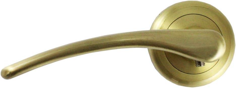 Juego Manillas Latonadas Placa Redonda 5 cm Wurko