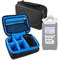 Protective EVA Case (in Blue) for the Zoom H1, Zoom H2N, Zoom H4n Pro, Zoom H5 & Zoom H6 Voice Recorders - by DURAGADGET