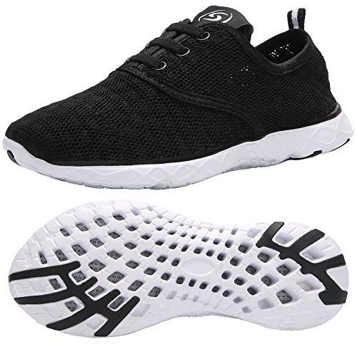 KARIDO Kid's Slip-on Quick Drying Aqua Water Shoes Athletic Sneakers Black 32 by KARIDO