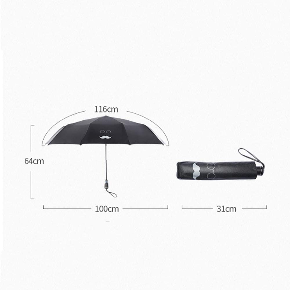 Windproof UV Protection Collapsible Sun Umbrellas Color : Red Travel Umbrellas and Teflon Coatings Wuzhongdian Sun Umbrellas are Lightweight