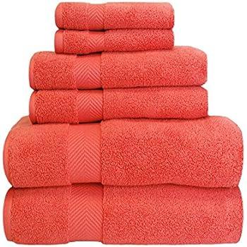 Amazoncom Superior Zero Twist 100 Cotton Bathroom Towels Super