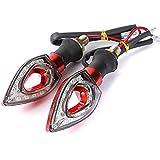 SYG_FR dWNO3RfXn 2X 12V Universel Eclairage Lampe Indicateur Feux Signal Clignotant Pour Moto Rouge