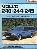 Volvo 240, 244, 245 1974 - 89 Autodata Repair Manual