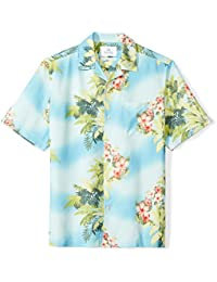 Men's Relaxed-Fit 100% Silk Hawaiian Shirt