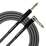 KIRLIN Cable IWB-202BFGL-20/CA 20-Feet Premium Plus Instrument Cable, Carbon Gray Woven Jacket