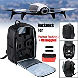 Gbell for Parrot Bebop 2 Power FPV Drone Backpack Portable Shoulder Bag Carrying Case,Large Capacity,Durable Nylon+ Foam,Drone Accessories (Black)