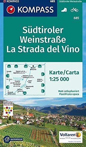 Südtiroler Weinstraße, La Strada del Vino: Wanderkarte mit Radrouten. GPS-genau. Dt. /Ital. 1:25000: Wandelkaart 1:25 000 (German Edition)
